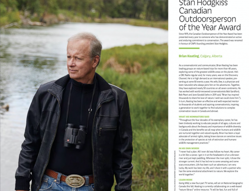 Brian Keating Recognized by Canadian Wildlife Federation as an Extraordinary Canadian