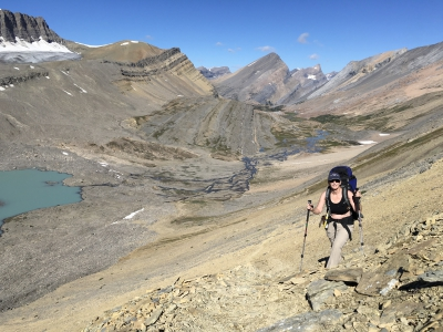 Purcell Mountains| Picture of Woman Hiking in Purcell Mountains