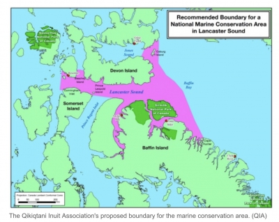 Tallurutiup Imanga:Lancaster Sound| Map of the Proposed New National Marine Conservation Area