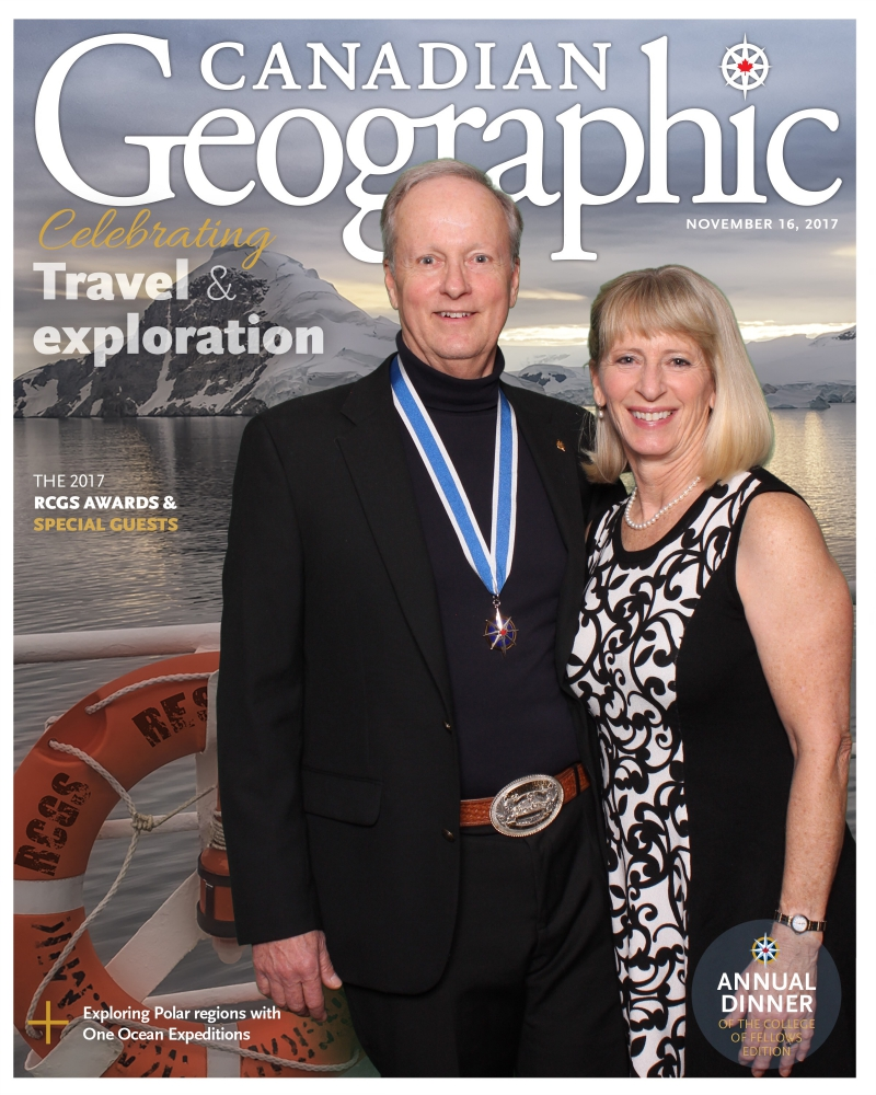Royal Canadian Geographical Society | picture of Brian and Dee Keating on the cover of Canadian Geographic