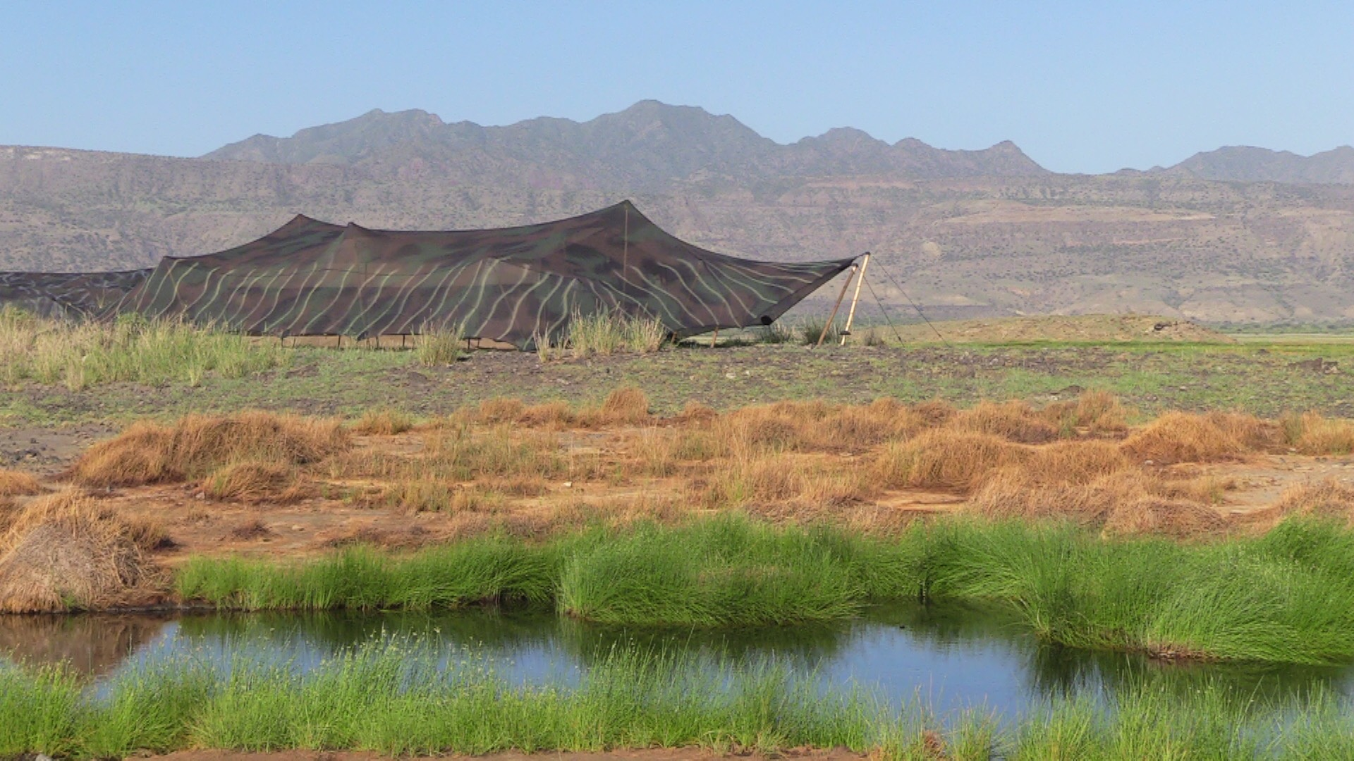 Brian and Dee's tent photographed early this morning at Lake Natron Camp, owned and run by Summits Africa.