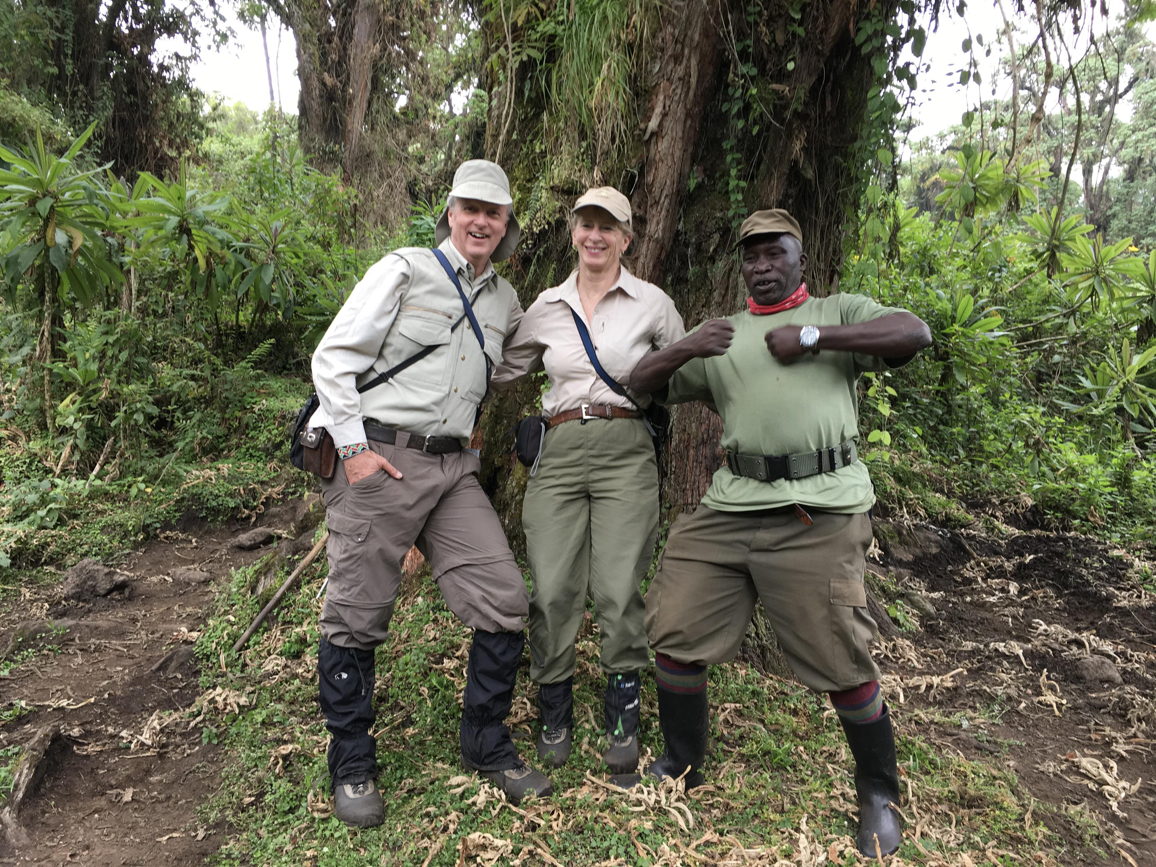 Brian Keating Dee Keating 2 Dian Fossey's camp in Rwanda